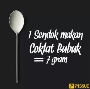 1 sendok makan coklat bubuk