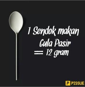 1 sendok makan gula pasir