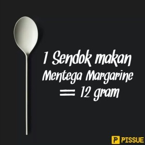 1 sendok makan mentega margarine