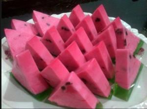 cara membuat puding semangka