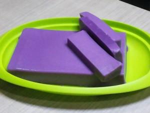 cara membuat puding ungu